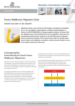 Oracle Fusion Middleware Migration | Fact Sheet von OPITZ