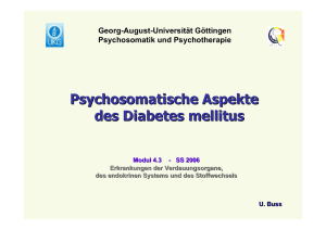Diabetes - psychosomatik - Georg-August