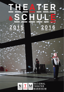 theater schule - Nationaltheater Mannheim