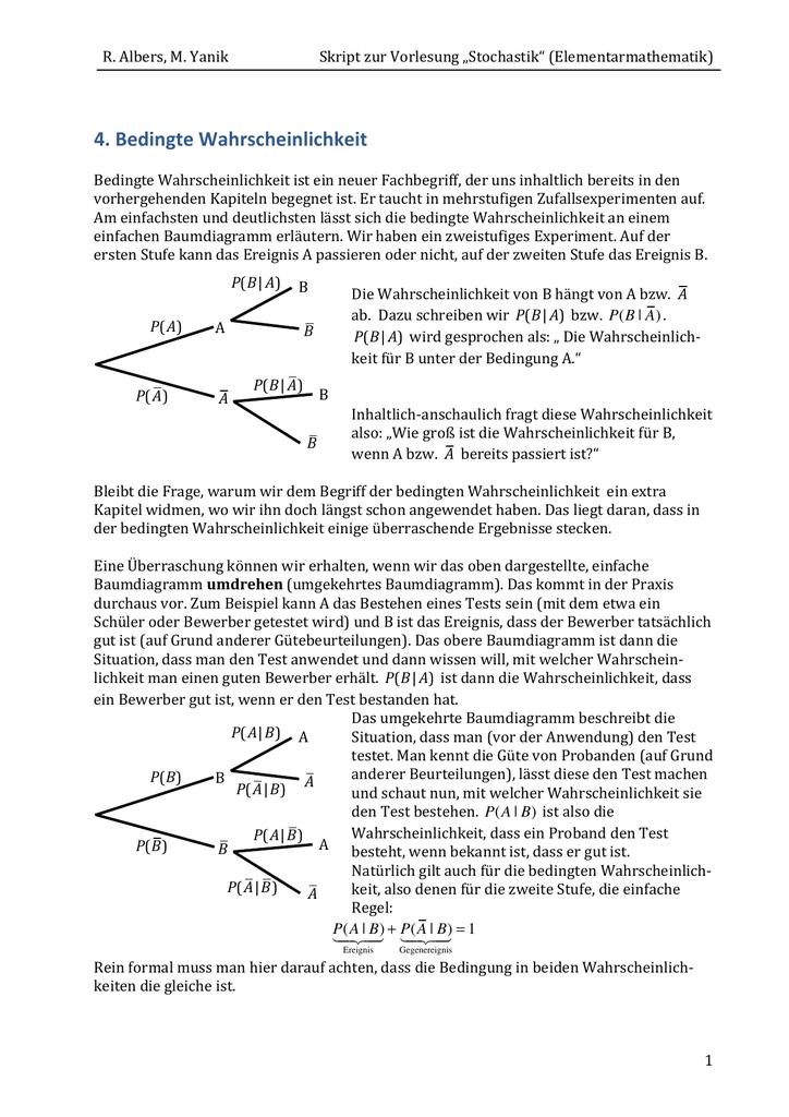 Kapitel 4 - Mathematik in der Universität Bremen