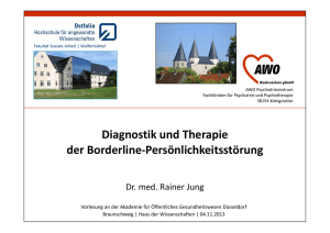 Diagnostik und Therapie der Borderline