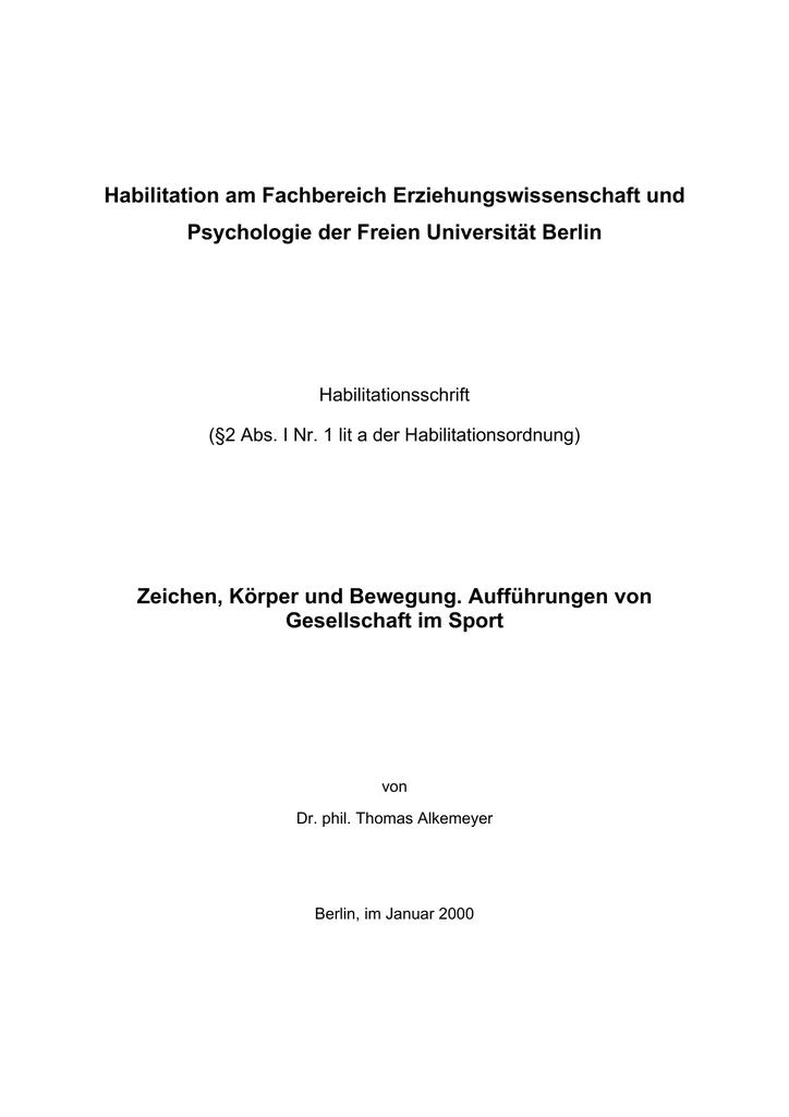 Thomas Alkemeyer - Universität Oldenburg