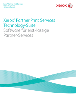 Die Xerox® Partner Print Services Technology