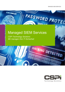 Managed SIEM Services