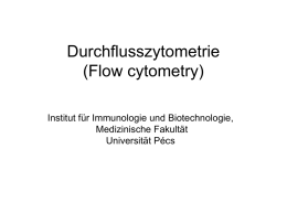 Durchflusszytometrie (Flow cytometry)