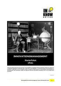 Starterpaket-Innovationsmanagement