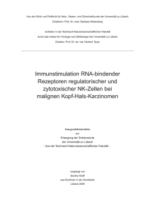 Immunstimulation RNA-bindender Rezeptoren regulatorischer und
