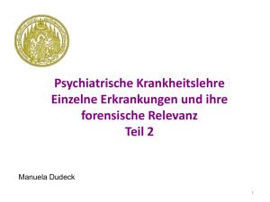 Paranoide Schizophrenie datiert