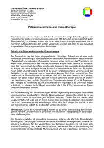 Patienteninformation zur Chemotherapie