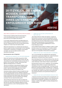 (PDF ) - Veritas IM Resource Centre
