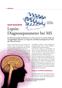 Leptin: Diagnoseparameter bei MS