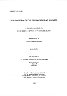 immunopathology of cardiovascular diseases - ETH E