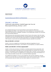 Zulvac 1+8 Ovis, INN-Inactivated adjuvanted vaccine against