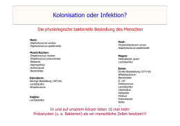 Kolonisation oder Infektion?