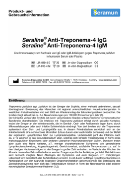 Seraline® Anti-Treponema-4 IgG Seraline® Anti-Treponema