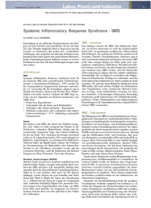 Systemic Inflammatory Response Syndrome - SIRS