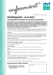 Stuhldiagnostik - up to date!