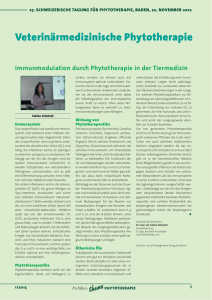 Immunmodulation durch Phytotherapie in der Tiermedizin