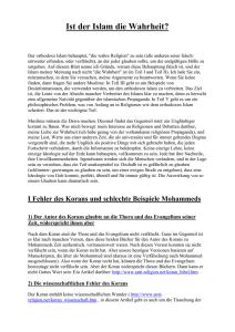 Datierung in islam von dr zakir naik