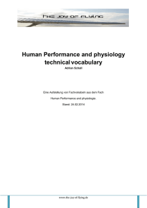 Vokabeln Human Performance
