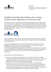 New cellular models and their application in the human body