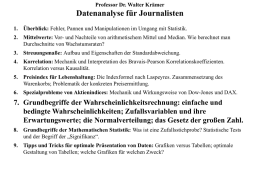 Datenanalyse für Journalisten