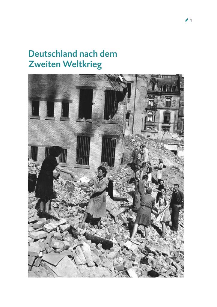 Deutschland Nach Dem Zweiten Weltkrieg