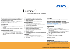 SOAP Schulung / Seminar / Training - Web Service mit Java