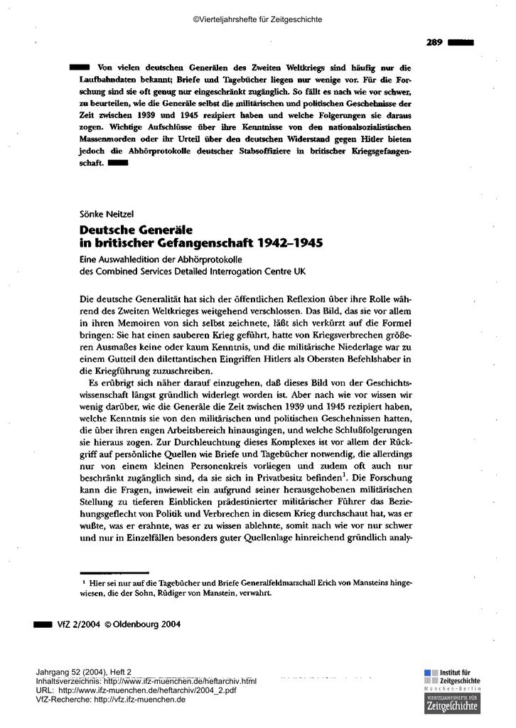 abgehort deutsche generale in britischer kriegsgefangenschaft 1942 1945