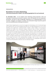 Revolution im Instore Marketing: Unternehmenskooperation etabliert