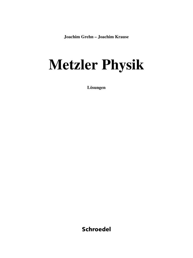 Metzler Physik, Lösungen auf CD-ROM