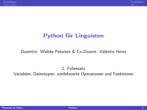 Python für Linguisten - user.phil.uni