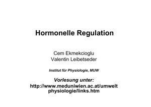 Hormonelle Regulation