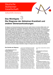 3. Die Diagnose der Alzheimer