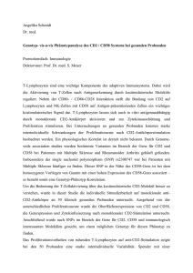 Genotyp-vis-a-vis Phänotypanalyse des CD2/CD58 Systems bei