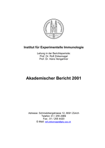Akademischer Bericht 2001 - Institute of Experimental Immunology