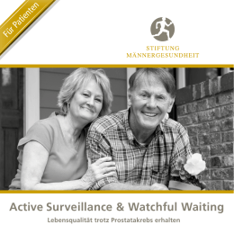 Active Surveillance & Watchful Waiting