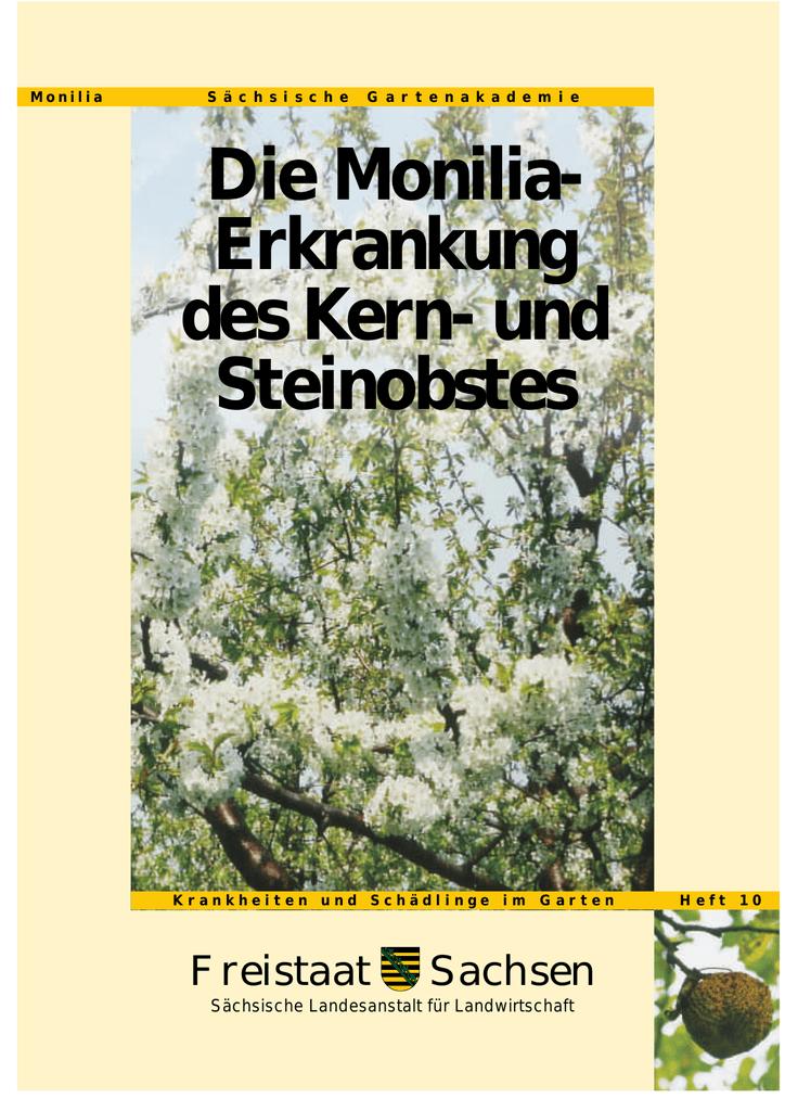 Krankheiten und Schädlinge im Garten, Heft 10, Die Monilia