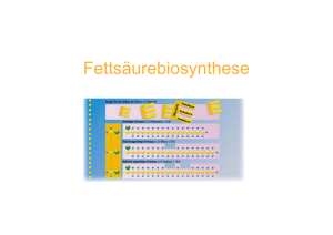 Fettsäurebiosynthese