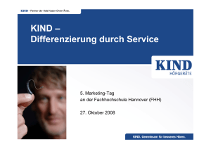 KIND – Differenzierung durch Service