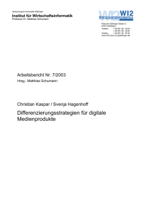 Differenzierungsstrategien für digitale Medienprodukte