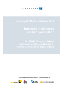 Business Intelligence als Kernkompetenz
