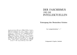 DER FASCHISMUS INTELLEKTUELLEN