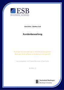 Kundenbewertung - ESB Business School