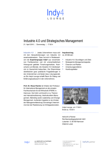 Industrie 4.0 und Strategisches Management