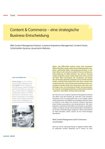 Content & Commerce – eine strategische Business