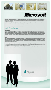 Inside Partner Manager - innotec Marketing GmbH