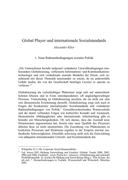 Global Player und internationale Sozialstandards