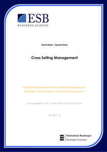 Cross Selling Management