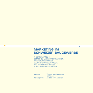 Kapitel 4 Marketingstrategien